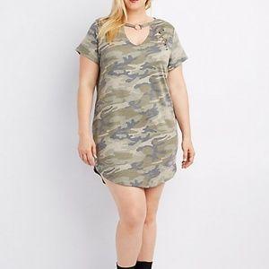 Charlotte Russe + CAmo Choker Ring Dress T-shirt